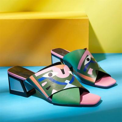 High Heels Pumps Fashion Prints Party Wedding Shoes Woman Comfort
