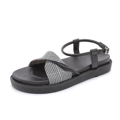 2020 Summer New Sandals Women's Chunky Bottom Simple Open Toe Gladiator Sandals