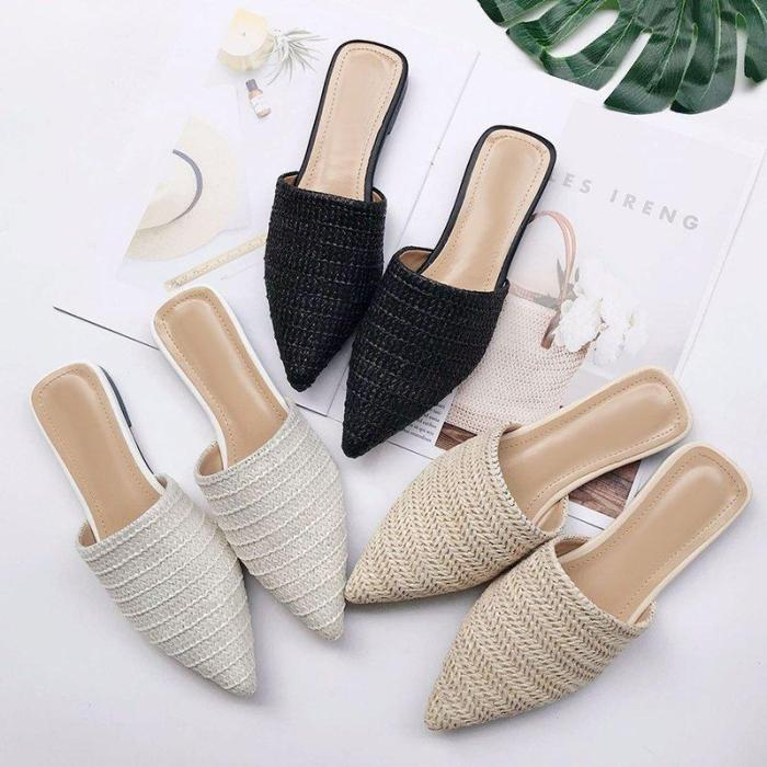 Summer Casual Beach Pointed Toe Slippers