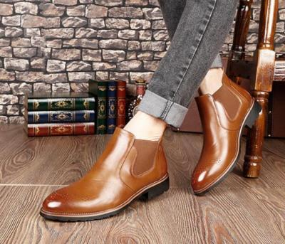 Casual Bullock carve patterns Martin boots Chelsea Boot