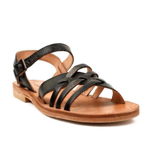Summer Casual Hollow Crisscross Buckle Strap Sandals