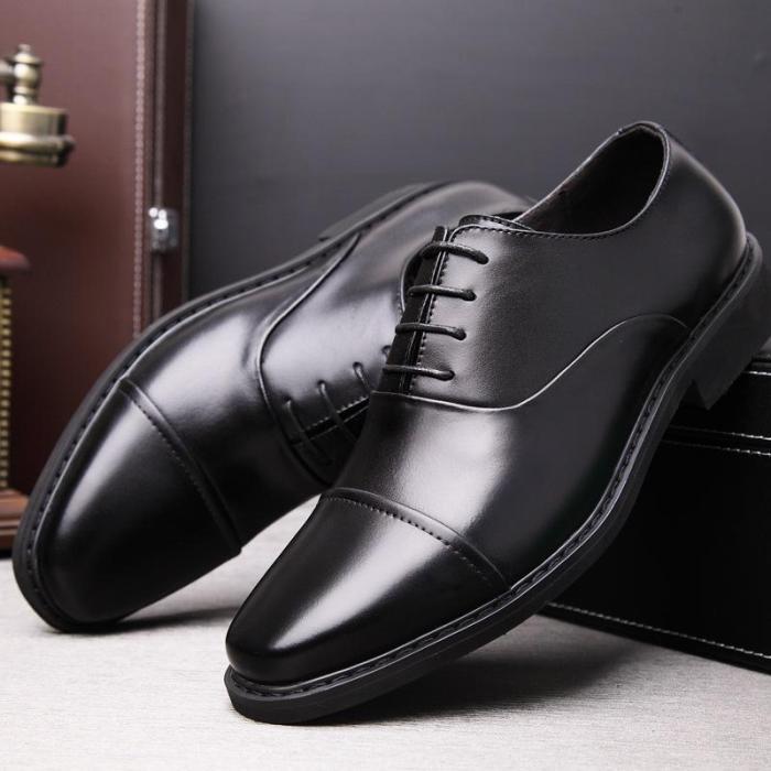 Fashion Business Plain Blinding Leather Shoes