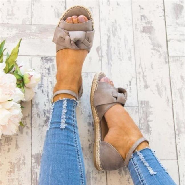 Ankle Strap Flats Lace Up Shoes Suede Espadrilles Sandals