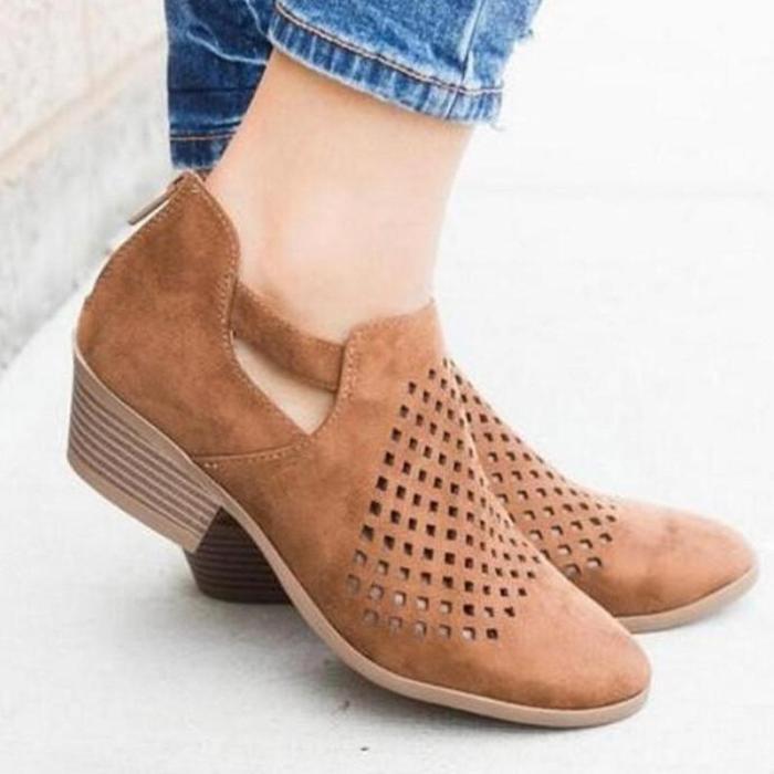Breathable Plus Size Vintage Mesh Hole Women Loafers