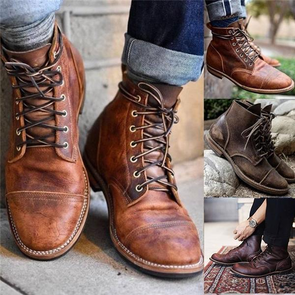 Shake the bottom down warm Men Boots in winter