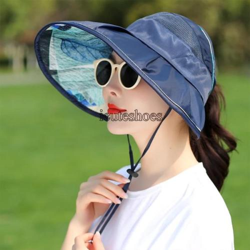 Hat Women's Summer Vacation Sunshade Hat UV Resistant Foldable Sun Hat Sky Top Sun Hat