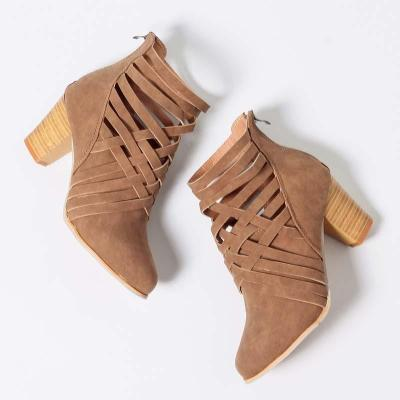 Chunky Heel Daily Zipper All Season Boot