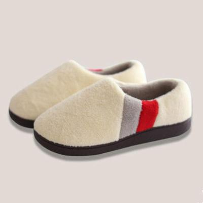 Unisex Home Warm Cotton-padded Flat Slippers