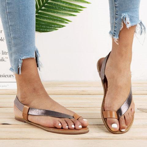 New Fashion Flip-flops Flat Simple Large Size Women's Sandals