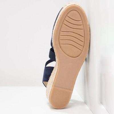 Women Plus Size Elastic Band Slip On Sandals