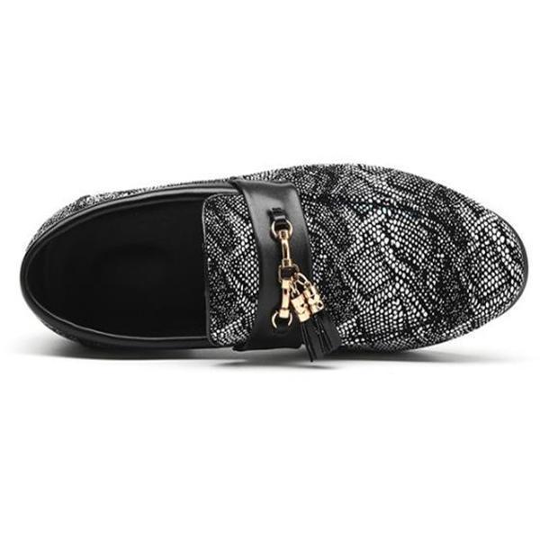 Business Fashion Lace Fringe Leather Shoes
