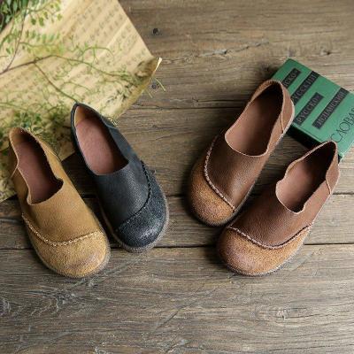 Round Toe Casual Retro Shoes