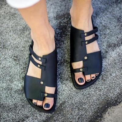 Summer Soft Comfortable Flat Sandals Slippers For Women