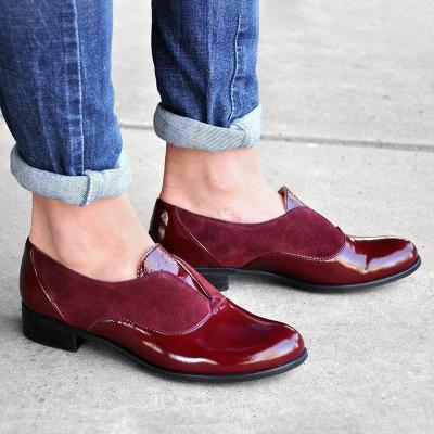 Low Heel Slip-On All Season Loafers Round Toe Casual Loafers