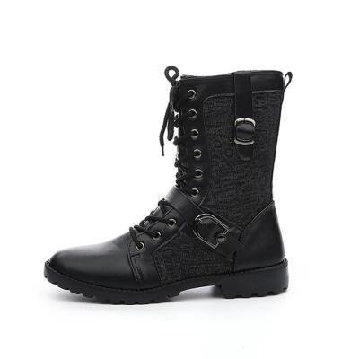 Men's belt buckle high boots Martin boots