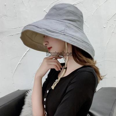 Hat Lady Summer Korean Version of The Hat Cover Face Japanese Art Big Eaves Sun-proof Hat