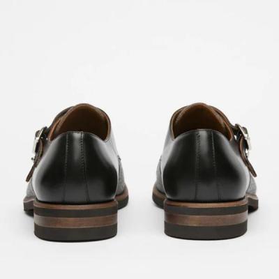 Men's Color Block Buckle Flat Shoes