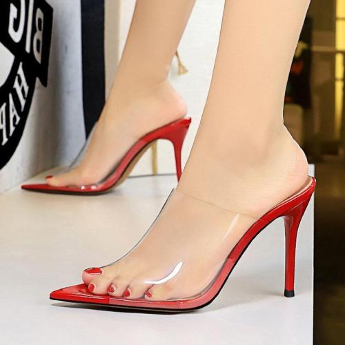 Summer Stiletto Heel Daily Peep Toe Slippers