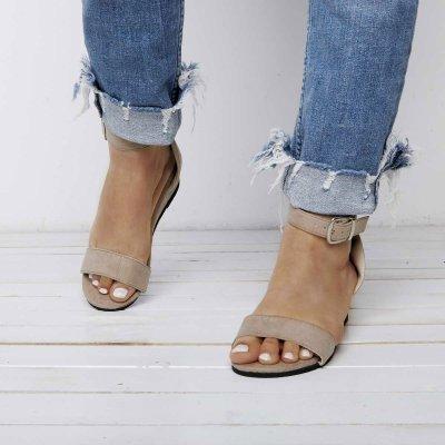 Women's Buckle Artificial Suede Wedges Sandals