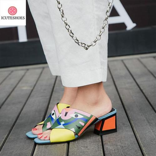 High Heels Pumps Fashion Prints Party Wedding Shoes Woman Comfort