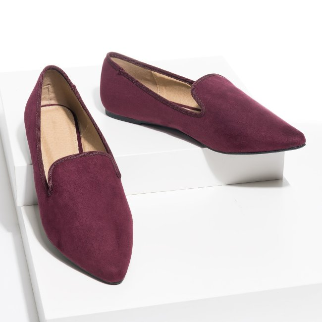Glenn Slip-On Purple Flats