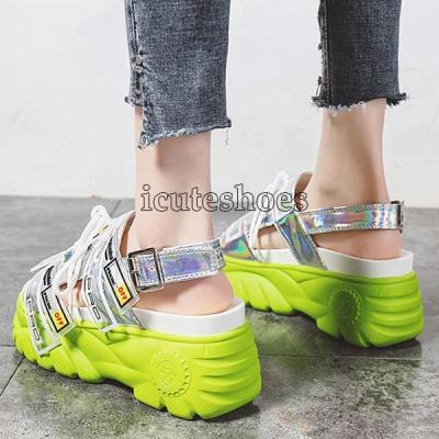 Chunky Fashion Summer Leather Women Thick Soled Beach Sandal
