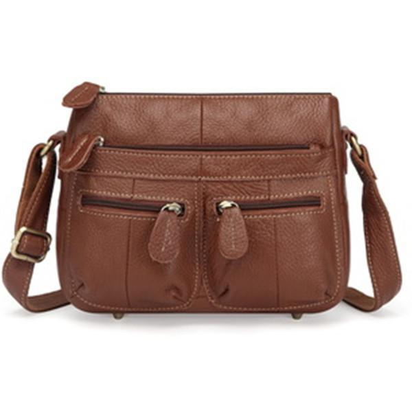 Classic PU Leather Crossbody Bag Commuter Bag