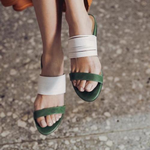 Women Summer  Beach Low Heel Slippers