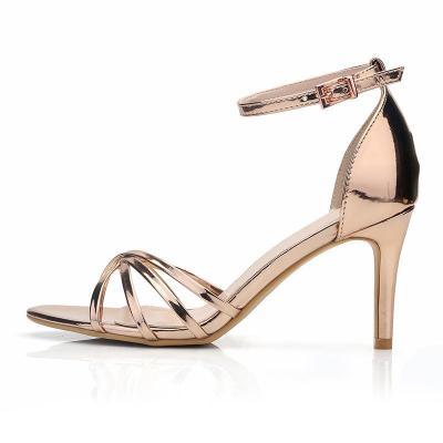 Stiletto Heel Adjustable Buckle Elegant Sandals