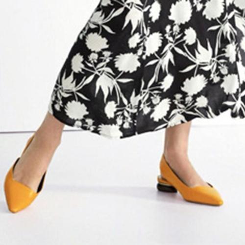 Elegant Pointed Toe Chunky Heel Date Summer Sandals