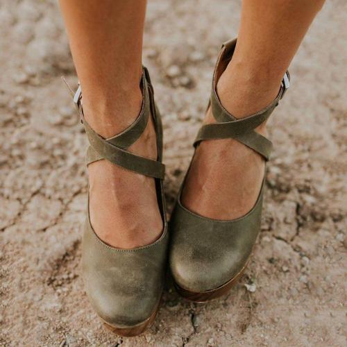 Ankle Strap High Heel Buckle Sandals