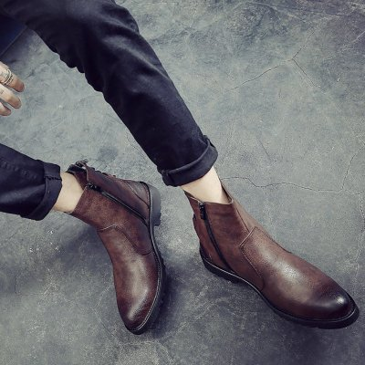 Men's pointed Martin boots