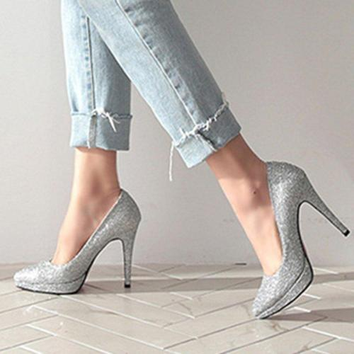 Sparkling Glitter Party & Evening Heels