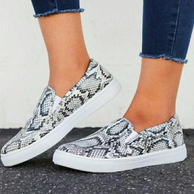 Python Printed Comfy Women's Loafers