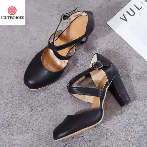 Pointed Toe Pumps Women Shoes Thick Heels Wedding Party Shoes