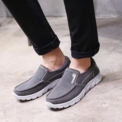 Large Size Mens Canvas Comfy Soft Slip On Walking Shoes