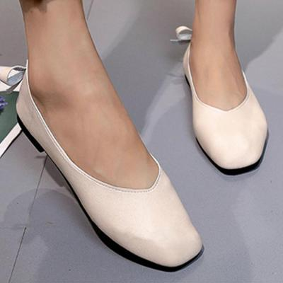 Plain  Flat  Round Toe  Casual Date Office Flat & Loafers