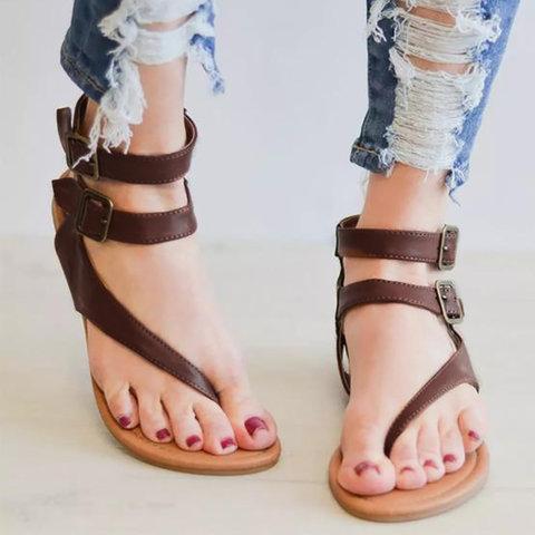 Women Pu Sandals Casual Daily Flip Flops Shoes