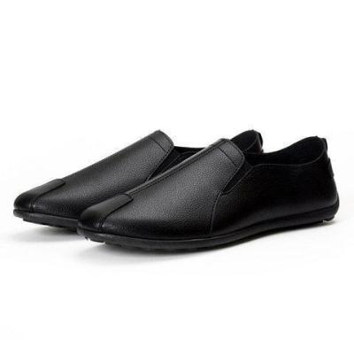 Men Pure Color Low Top Flat Slip On Doug Shoes Casual Loafers