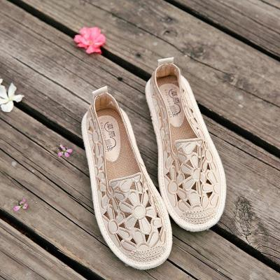 Flower Casual Hollow-out Slip-On Flats