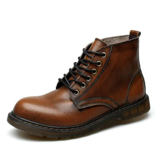 Casual Martin boots bigger sizes   of pu leather boots
