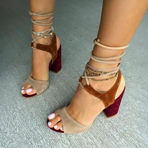 Women Block Heel Chunky Heel Sandals