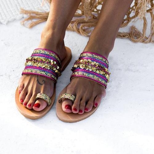 Summer Casual Vintage Flip-Flop Toe Women Sandals