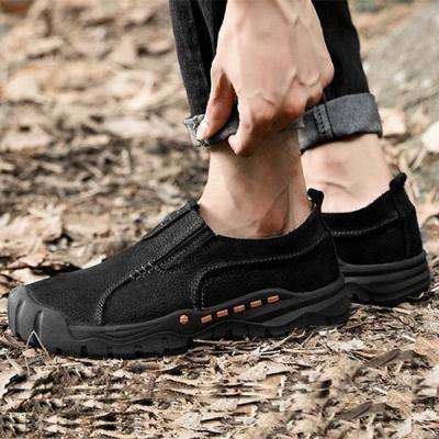 Mens Casual Outdoor Slip-on Hiking Climbing Flat Shoes
