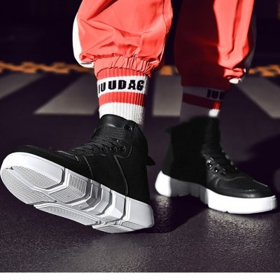 Men's leisure sports  with high flat shoes