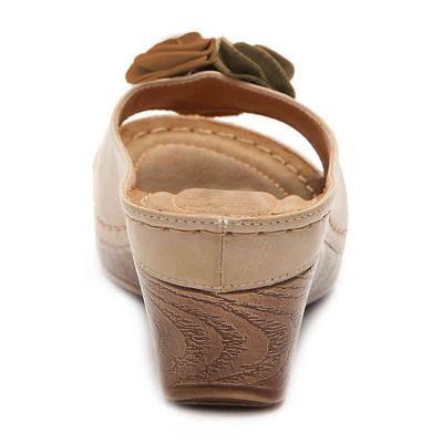 Wedge Sandals Summer/Spring Flower Slip-On Sandals