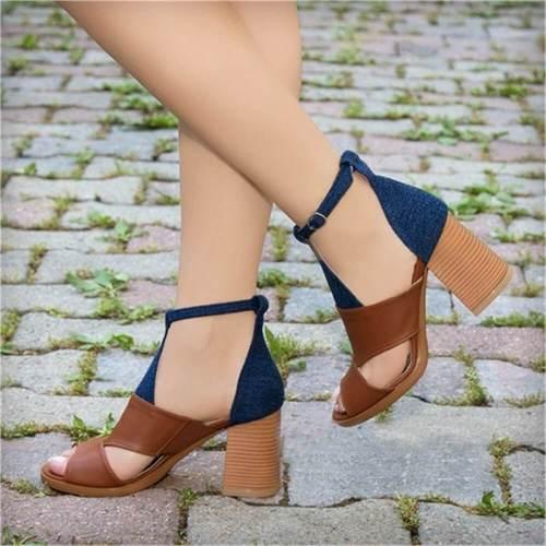 Fashion Casual Wild Heel Sandals
