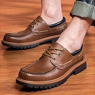 Mens Punk Style Urban Retro Shoes Lace Up Casual Flats