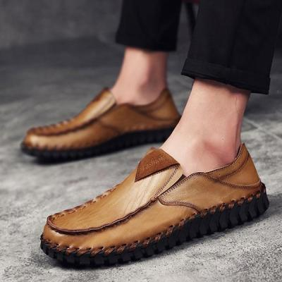 Men Hand Stitching Soft Sole Driving Shoes Casual Flats