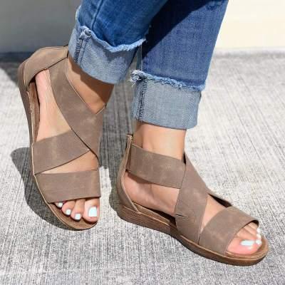 Women Open Toe Ankle Strap Sandals